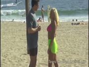 Peter North Picks Up Stacy from the Beach for a BJ
