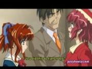 Hentai babe gets masturbated