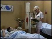 Nurse takes a semen sample