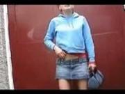 Nina wetting her panties