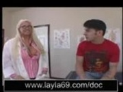 Blonde doctor banged hard