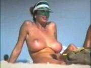 Beach Voyeur of Large Natural Breasts