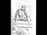Hot MILF Lesbian bondage sex art