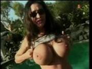 Huge tits brunette fucking