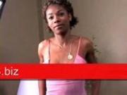 Angelina - Interracial lesbian dildo sex pt1