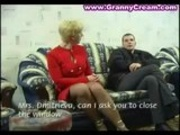 Blonde Russian Mature Old Lady and a Younger guy