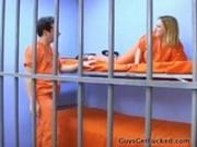 Femdom Strapon fucking the prisoner