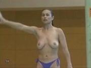Topless Gymnast