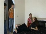 2 Russian teen couples
