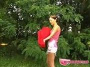 NextDoorNancy - Cute gal exposes in the open air