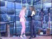 Lesbian Femdom Spank and penetration