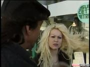 Busty blonde chick picked up on the streets of Paris