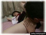 Asian schoolgirl having wild intercourse