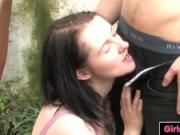 Busty brunette Aeryn fucked and inseminated