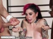 BurningAngel Joanna Angel Intense DP with Big Cocks
