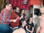 CrowdBondage - Blondie Fesser Voluptuous Argentinian Babe Public BDSM Submission