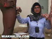 MIA KHALIFA - Your Favorite Arab Pornstar Milking Two Cocks Just For Fun