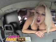Female Fake Taxi Busty blonde wants big hard british cock