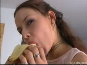 Horny girl does it all around her house - DBM Video