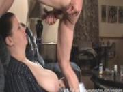 curious woman plays with boy toy
