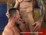 Bodybuilder wrestler gay sex