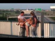 Daria public threesome on freeway overpass PART 2
