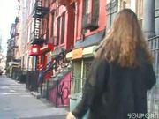 Pee spray on the street