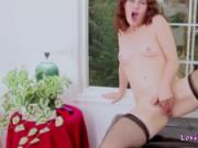 Redhead Needs Toy to Pleasure Her Cunt