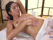 Massage Rooms Horny lesbians kiss lick and fuck until loud orgasms