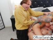 Sarah Jessie's hot threesome