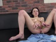 Pussy Pissing - Sexy Victoria Traveller gapes and toys her pee soaked pussy