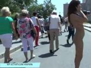 Sexy teen eve naked on public streets