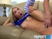 PropertySex - Entitled millennial punished by big landlord cock