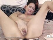 Flirt4Free Model Mika Cox - Sexy Cougar Babe w Big Tits Makes Her Pussy Squirt