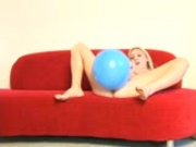 Allison's pussy popped her balloon
