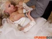 Punishbox - Blonde Bride gets put in her place
