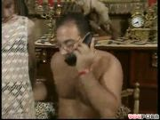 Telephone call will not interrupt what he is doing (CLIP)