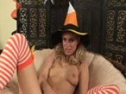 Cute Eny in sexy Halloween outfit - CzechSuperStars