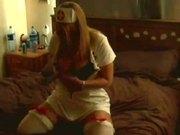 student busty nurse fucks herself with rabbit