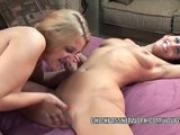 Lesbo MILF Lavender Rayne gets fucked with a strap-on