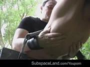 Cry bondage slut, you deserve punishment and rough fuck outdoor
