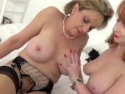 Lady Sonia And Her Redhead Friend In Lingerie Play