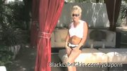 BIG tits Blonde MILF striptease bikini sexy ass