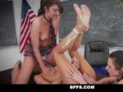 BFFS - Brazlian Teacher Fucked and Rough Play By Students