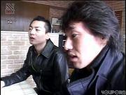 Asian hostess giving head