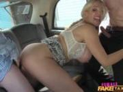 FemaleFakeTaxi Salesmen have an unforgettable ride