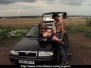 Big Tits fucked in the Field!