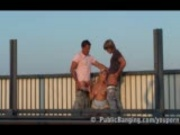 Daria public threesome on freeway overpass PART 1