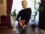 Hardcore short-haired blonde gets it in her tight ass