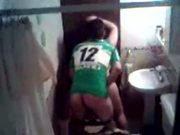Argentinian couple fucking in the bathroom